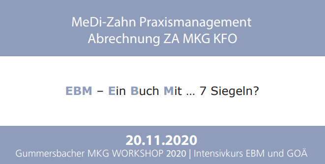 MeDi-Zahn MKG-Workshop sponsored by BFS